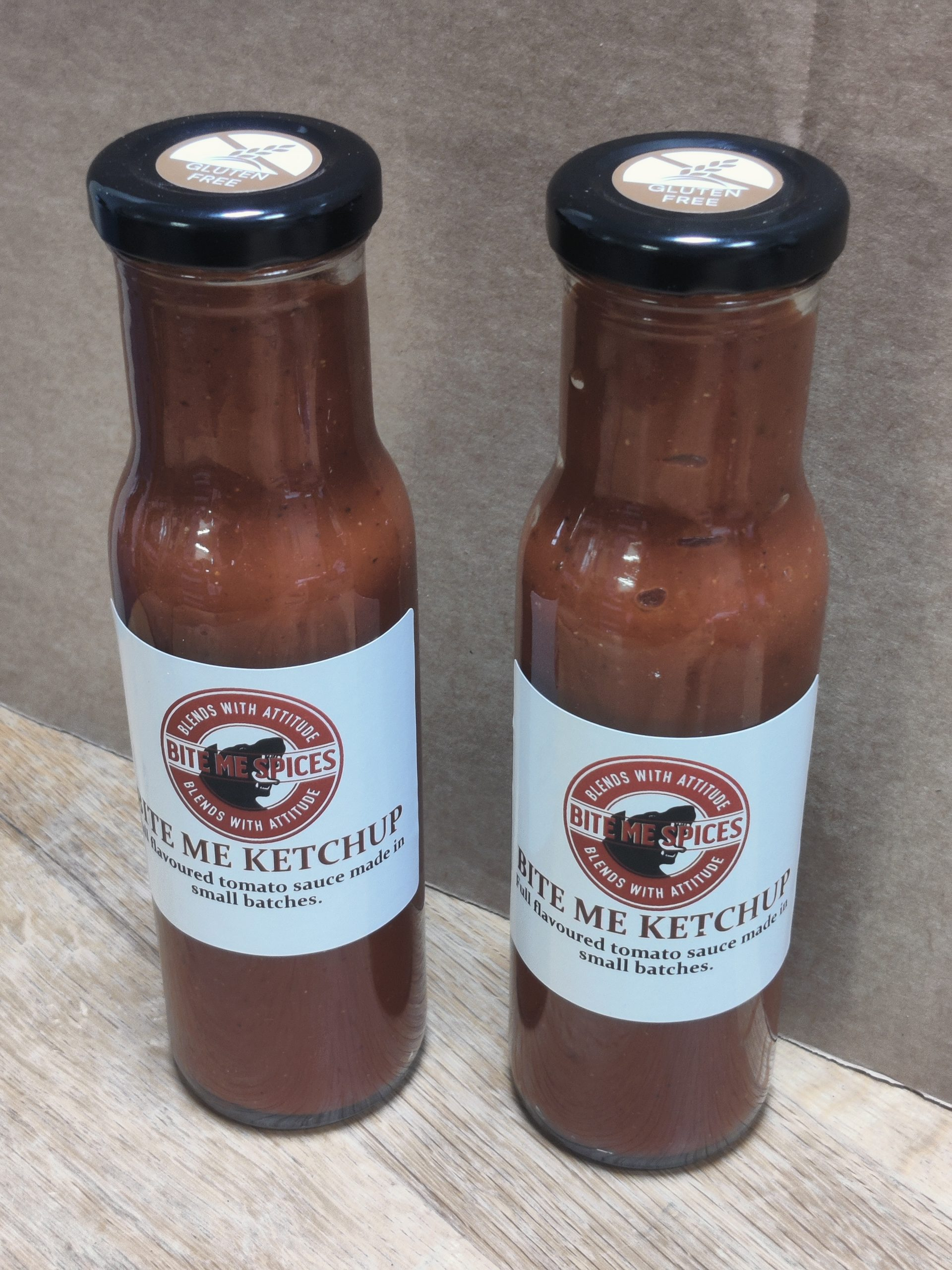 Twinpack Bite Me Ketchup, gluten free, made in small batches